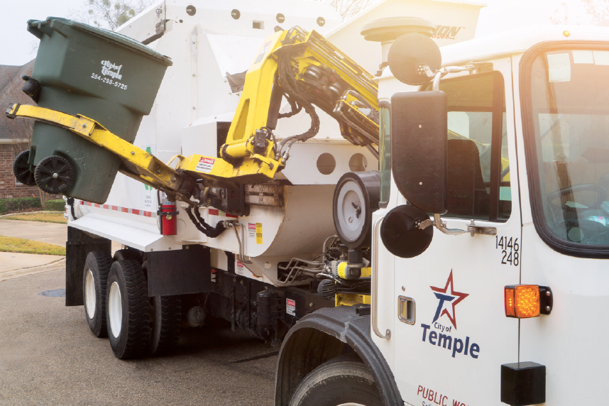 City of Temple, Texas recycling collection.