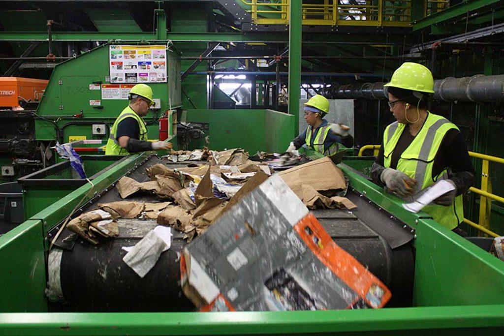 Waste Management sort line
