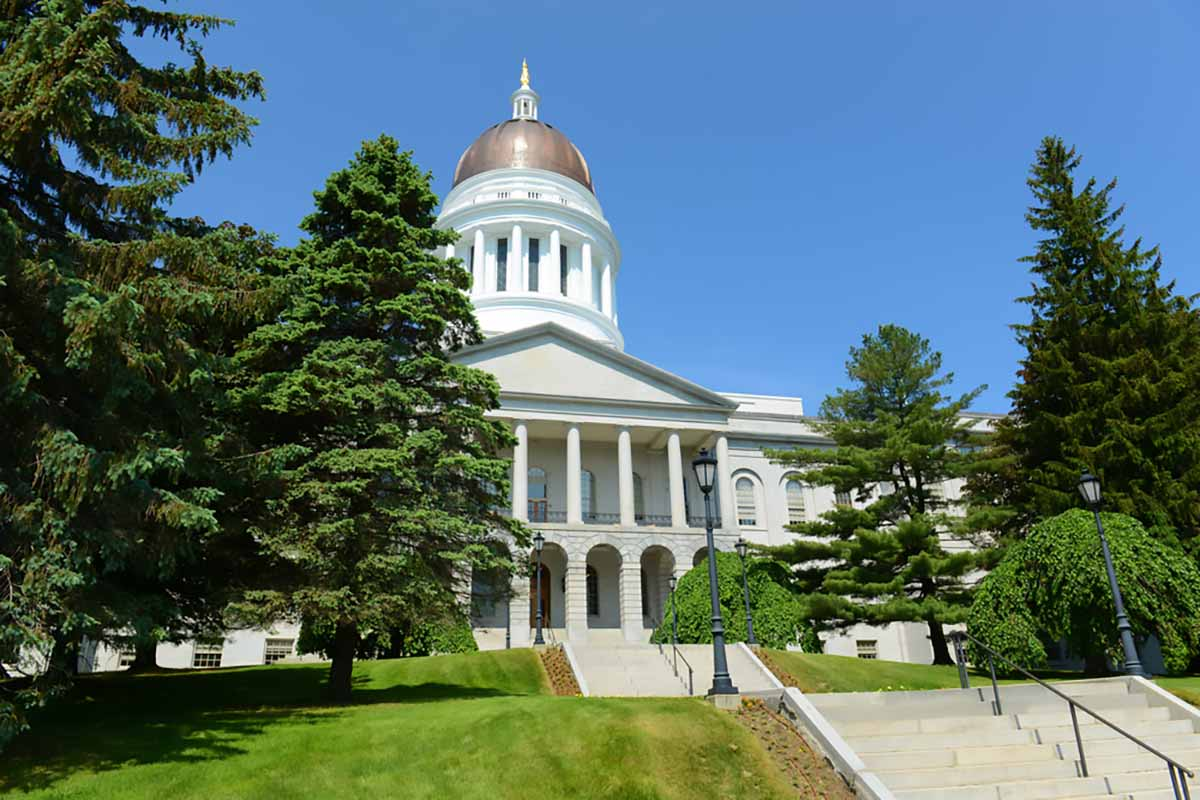 The Maine state capitol building.