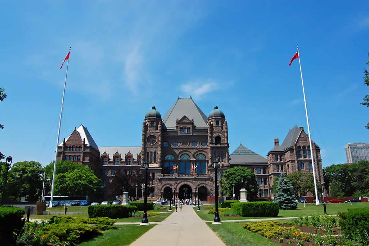 Outside the Ontario, Canada legislative building.