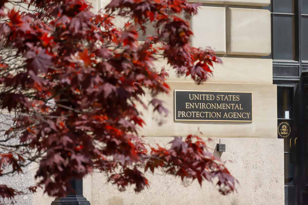 United States EPA sign on building exterior.