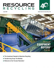 Resource Recycling magazine July 2021 cover