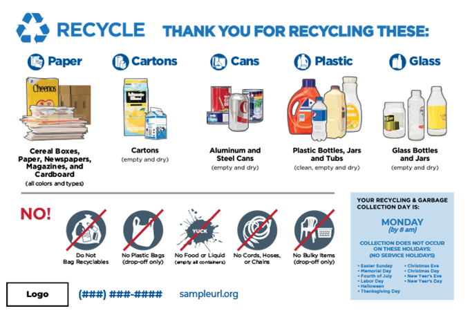 The Recycling Partnership's infocard for multifamily recycling.