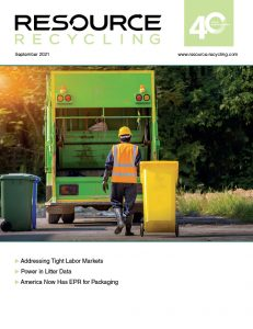 Resource Recycling Sept. 2021 issue cover