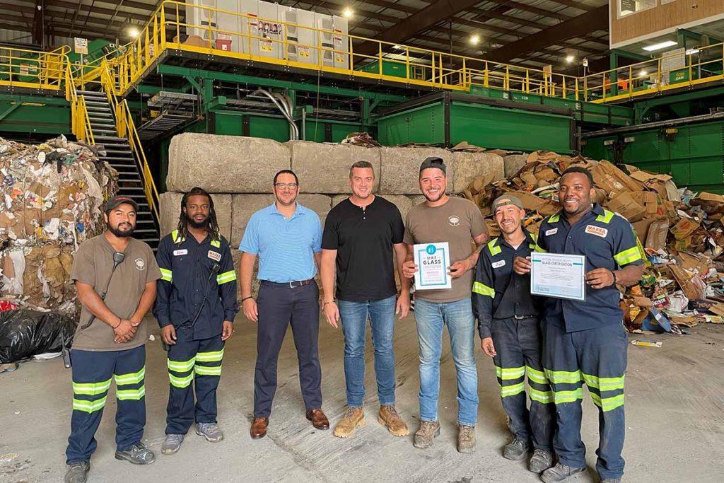 Mazza Recycling Services team photo